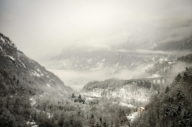 House Valley Gothardpass Fog Nature Mountain Cold Temperature Landscape Beauty In Nature Cloud - Sky Scenics No People Winter Outdoors Day Shades Of Winter
