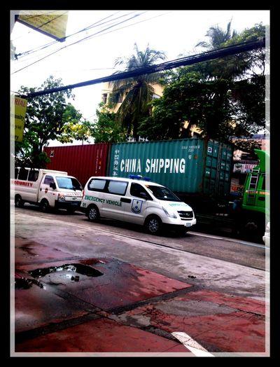 Heavy Traffic Blue Ridge Along Katipunan Avenue ... Bad Weather #typhoon