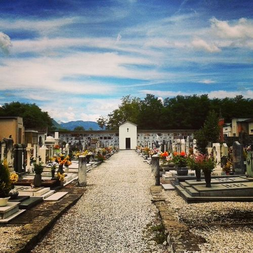 Cemetery Architecture Ghivizzano Tuscany Italy