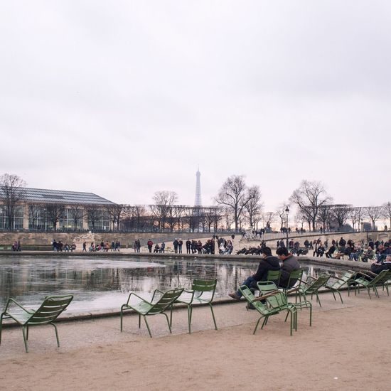 Paris City Life Winter Eiffel Tower Travel Destinations Tuileries Garden