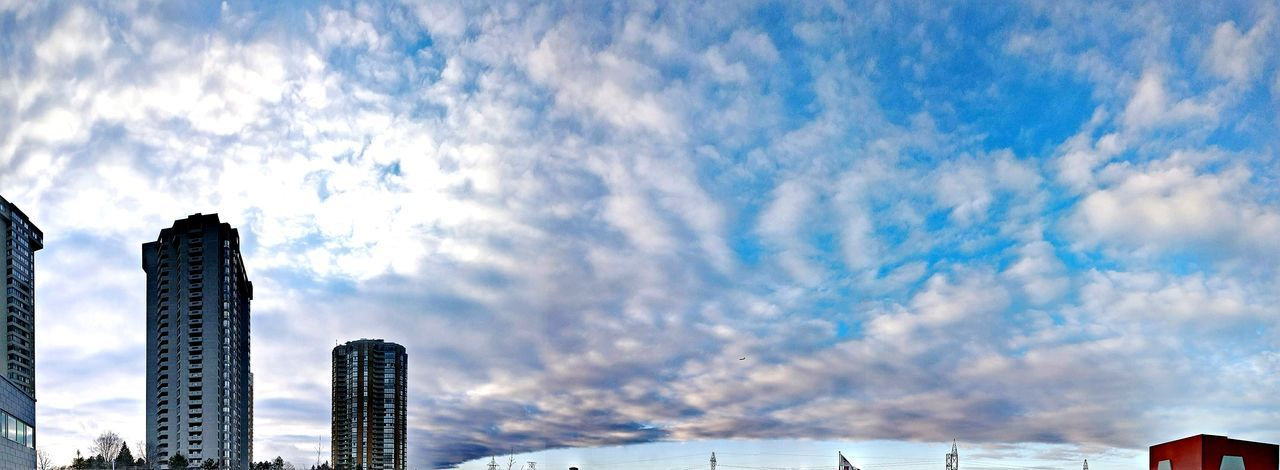 Cloud - Sky Outdoors Building Exterior Urban Skyline No People Low Angle View Architecture Panorama