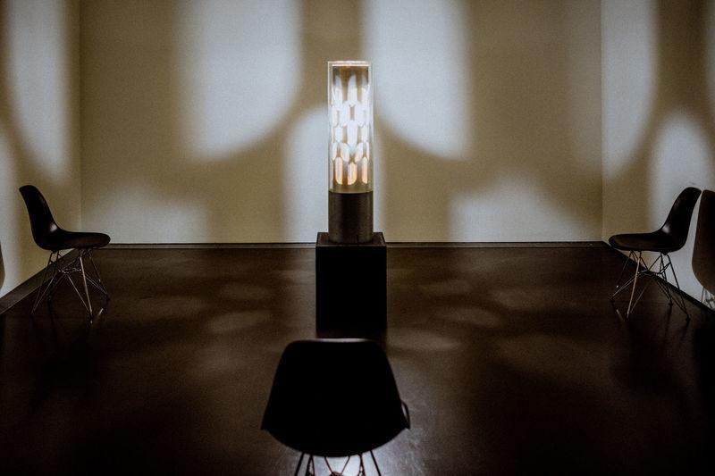 Illuminated lighting equipment in room