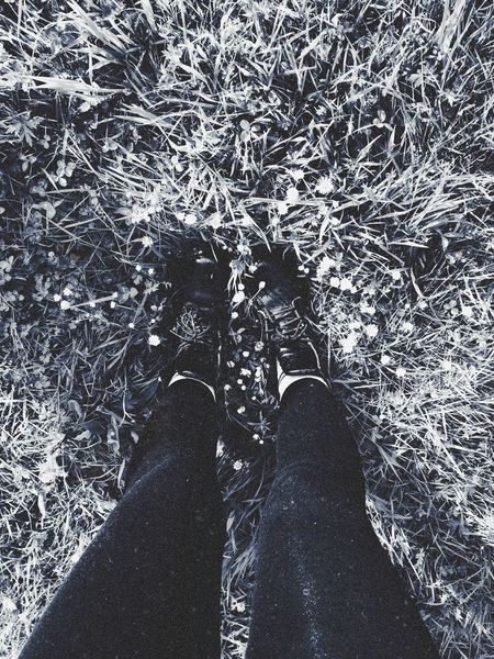walking the dog with mummy✨ Doc Martens Grunge Flowers Black And White First Eyeem Photo