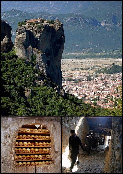 """Monk monastery"",Meteora Monk Monastery Built Structure Building Exterior"