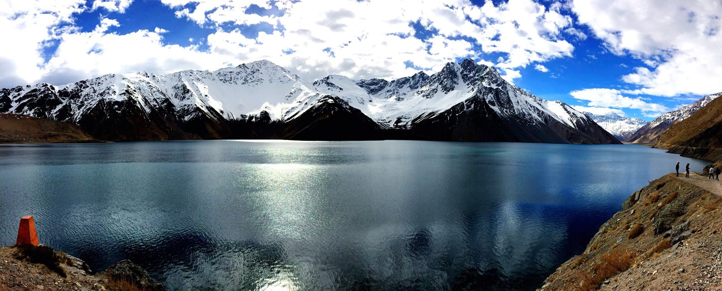 El EMMMMBALSE Embalse El Yeso Embalse Beauty Near Chile Santiago Snow Sky Water Pure