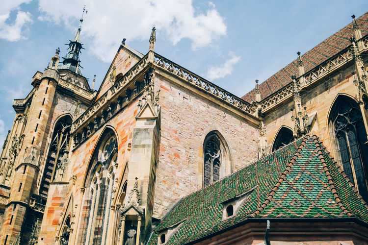 Cathedral Colmar France Architecture Building Exterior Built Structure Low Angle View Outdoors Saint Martin Church