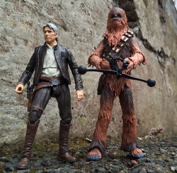 Han and Chewie EpisodeVII HasbroToyPic Starwars Blackseries Han Solo Star Wars The Force Awakens Action Figures Action Figure Photography Toyphotography Star Wars Toys Star Wars The Black Series