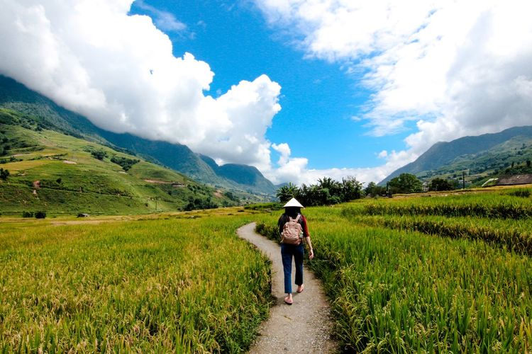 FarmVille in sapa Journeyphotography Trip Travel Backpacker Mountain Bluesky Landscape Veitnam Sapa Ricefield Farmville