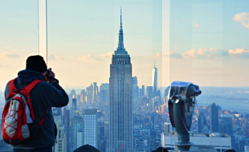 New York New York City USA OpenEdit One World Trade Center Empire State Building Top Of The Rock Amazing View Manhattan Travel Destinations Travel Photography Cityscape Travel Destinations City Travel Skyscraper Urban Skyline Rear View Tourism