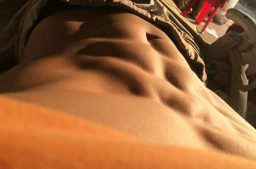 My Abs Fitness Fitnessmodel Abs Gym Mov People Close-up Indoors  One Person Day