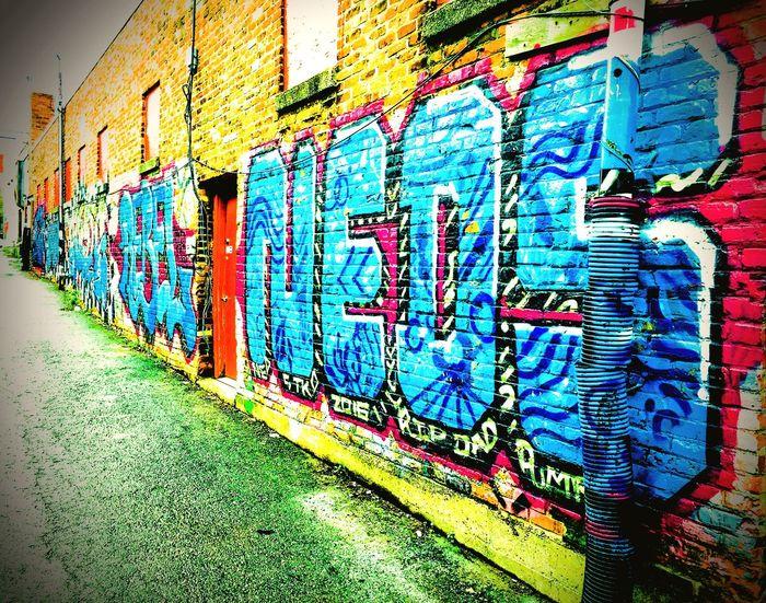 OldTown Multi Colored Graffiti Creativity Art And Craft Architecture Street Art Wall