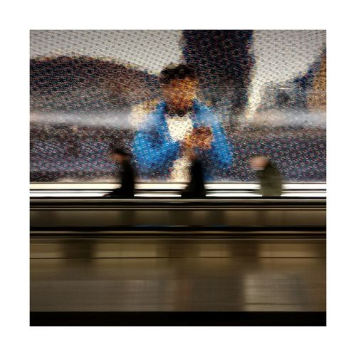 BYOPaper! Technology Indoors  Pixelated Close-up Moments Reflection Photography Reflection In The Move City France Taking Photos Street Photography Street Life Streetphotography The Street Photographer - 2017 EyeEm Awards Urbanphotography Stuttgartmobilephotographers Photo Color Color Photography Photooftheday Flu Fast Tunnel