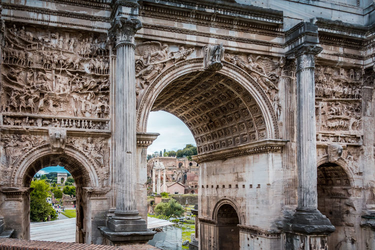 Arch Architecture Built Structure History The Past Travel Destinations Building Exterior Tourism Travel Day Triumphal Arch City Ancient Old Architectural Column No People Monument Old Ruin Low Angle View Outdoors Ancient Civilization Ruined Archaeology Arched Ancient History