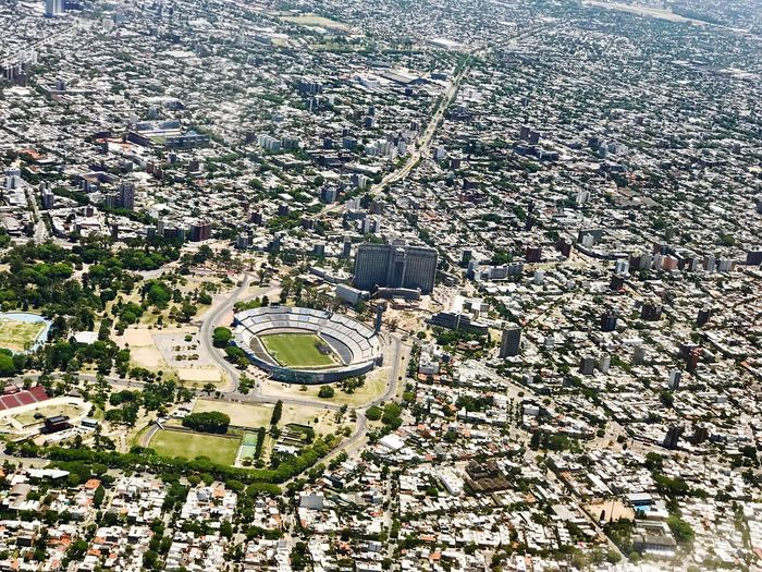 Montevideo from above... Centenario Stadium Football Stadium Stadium Aerial View Building Exterior Cityscape Architecture Built Structure City High Angle View No People Urban Skyline Roof Day Residential Building Fame Sea