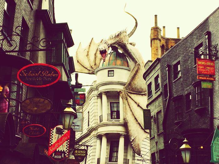 Harrypotter Universal Studios  Gringotts Gringottsbank Orlando