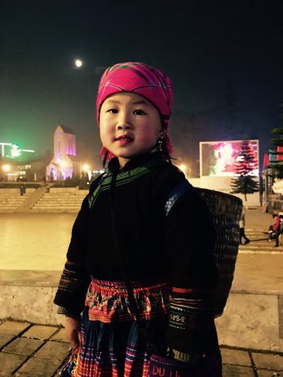 Ethinic Minority Little Girl Pure Vietnam Innocence