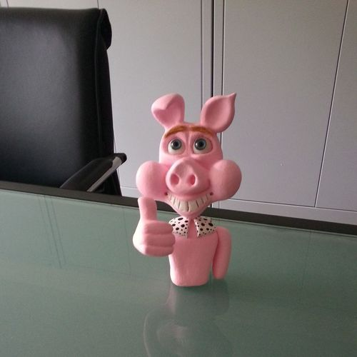 my little Pig is done! :) Sculptures Art, Drawing, Creativity