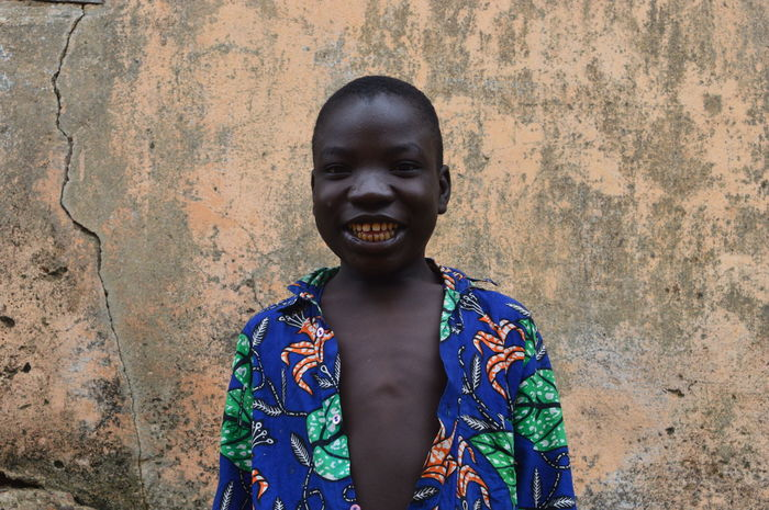 Africa African Child One Person Portrait Smile Togo