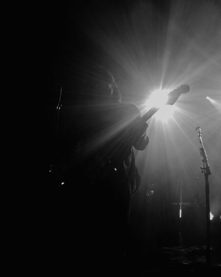 Band of Skulls, SWX club Bristol Lens Flare Gigphotography Rock Band Concert Silhouette Live Event Black & White Performance Rock Music Guitarist
