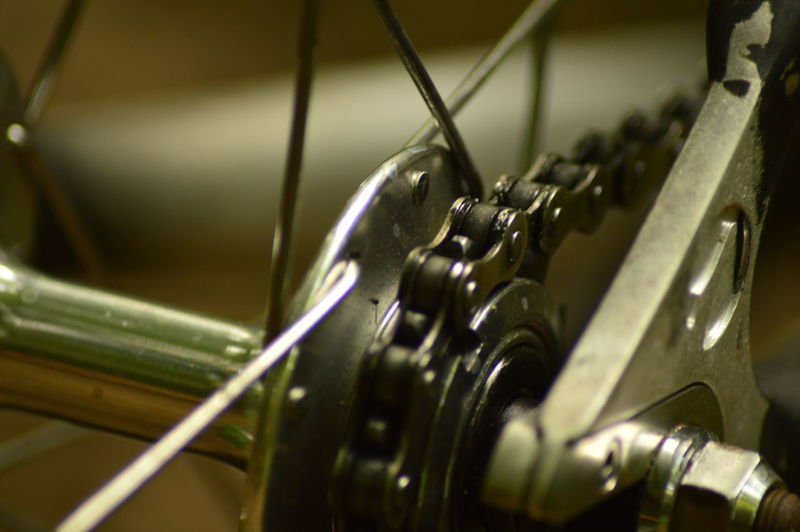 Close-up of bicycle chain