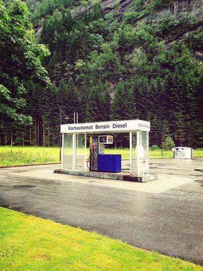 Gas Station In Modalen Norway