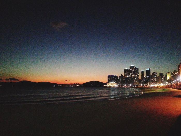 Busan,Korea Traveling Sea And Sky