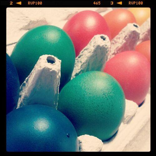 Eier färben -