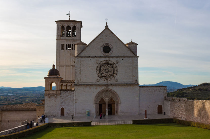 Basilica Church Saint Francis Of Assisi Architecture Bell Tower Building Exterior Built Structure Cloud - Sky Cross Day Façade History Mountain Nature No People Outdoors Place Of Worship Religion Sky Spirituality Travel Destinations