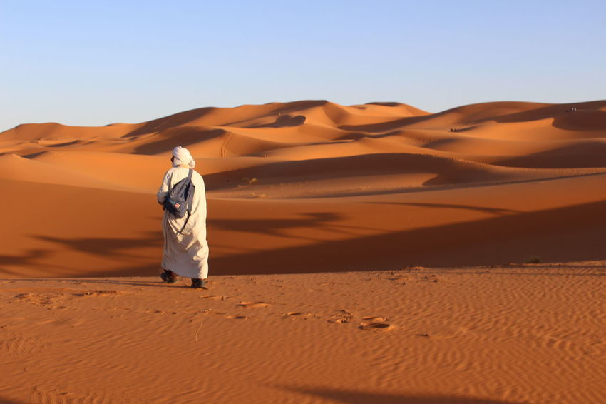 Arab Arabic Camel Desert Deserto Dune Dunes Of Merzouga Nature, Remote Sabbia Send Sky