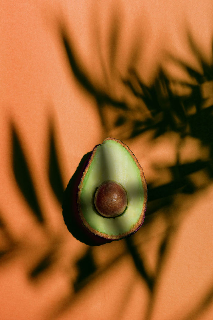 Directly above shot of avocado