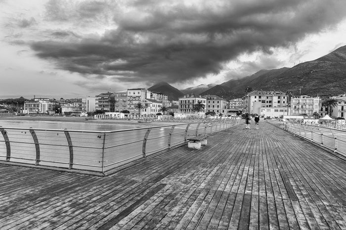 Ceriale from the Pier at sunrise in July Holidays Italia Mare Panorama Pier Italy Sea Vacanze