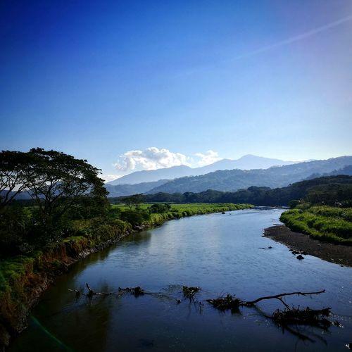 Rio Tarcoles, CostaRica. Water Nature Reflection River Costarica