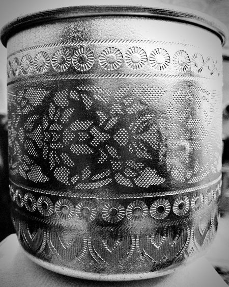 Cup Black & White Engraving Argentic Silvery Things Silvery