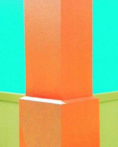 Corner Wall Paintedwall Orange Blue Green Splasplanet Symmetrykillers Candy_minimal Colors_ofourlives Tv_colors Pocket_colors Rainbow Wall Colors Colours Colorful Colourful Brights Candybestof