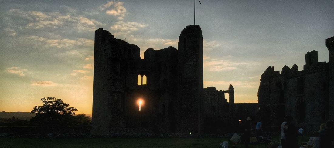Sunset through Raglan Castle Taking Photos Hanging Out Enjoying Life Architecture Iphone6plus