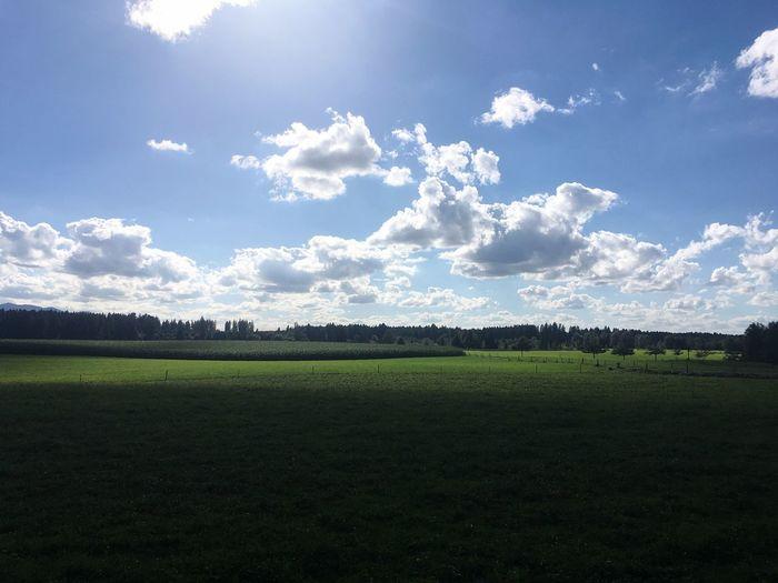 Bayern Germany Bavaria Landscape Light And Shadow Travel Destinations Sachsenkam