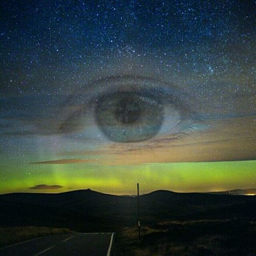 Watching from the Heaven's - 'I think if we could all see Mother Nature we would treat her a lot better' Aurora Eye Mothernature Soul Beautifulearth Pollution Eco Greenpeace Toxic Stars WOW Tripleexposure Creative Wonder Heavens Stargazing NorthernLights Astrophotography Astronomy Aberdeenshire Scotland EyeEm Best Edits EyeEm Nature Lover
