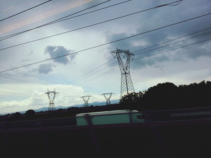 Transmission Line Tower Far Far Away By The Way Italy
