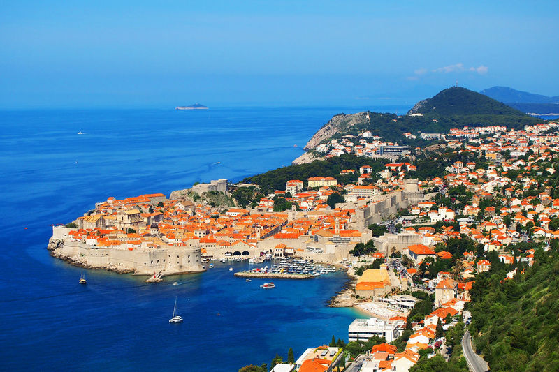 High Angle View Of Cityscape By Adriatic Sea