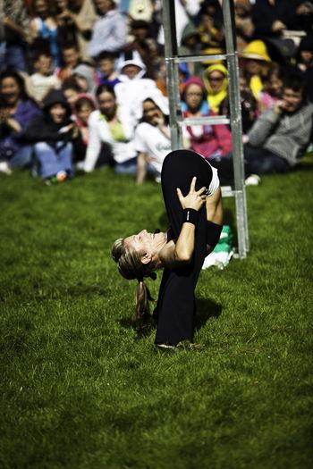 Artist Audience Bendy BendyEm Contortionist Cork Crowd Fitzgeralds Park Focus On Foreground Ireland Performance Street Theatre Theatre