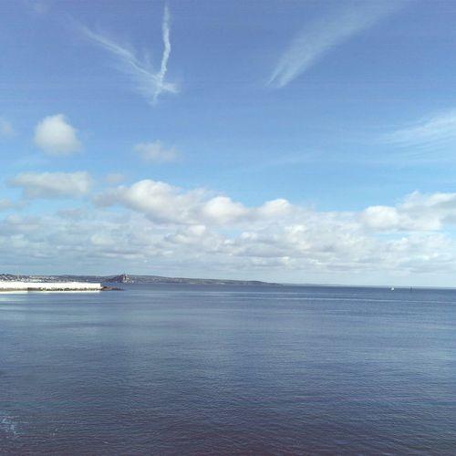 Sea Beauty In Nature Cornwall Sky Horizon Over Water Sunyday Warm Day November2016