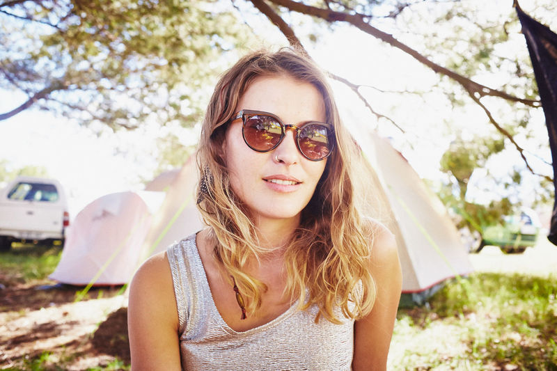 Close-up Day Focus On Foreground Front View Leisure Activity Looking At Camera Nature One Person Outdoors People Portrait Real People Smiling Tree Young Adult Young Women