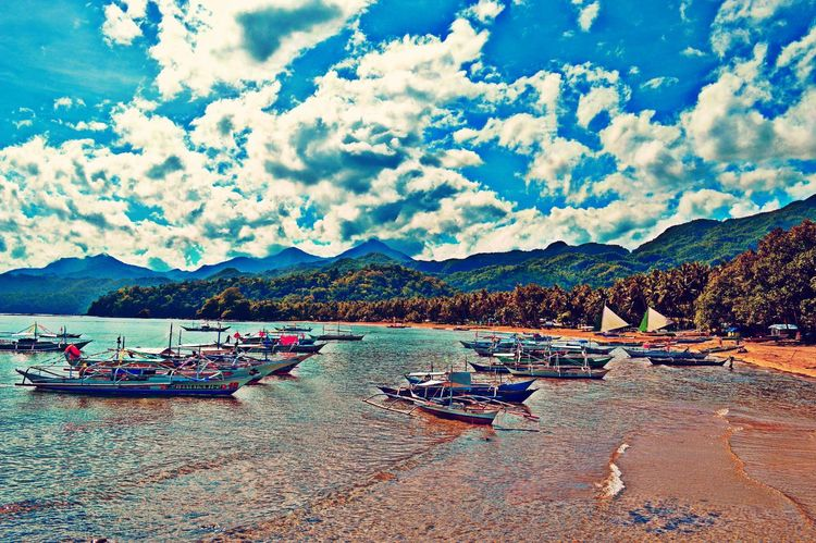 Barangay Sabang Puerto Prinsesa Palawan, what a wonderful experience you impart all thru out may stay, your awesomeness should be told to the world. how much more coron andel nido. Eyeem Philippines EyeEm Nature Lover Water Adventure Sky And Clouds Hdr Edit Hello World Enjoying Life Getting Inspired Inspire And Be Inspired✨ The Global EyeEm Adventure