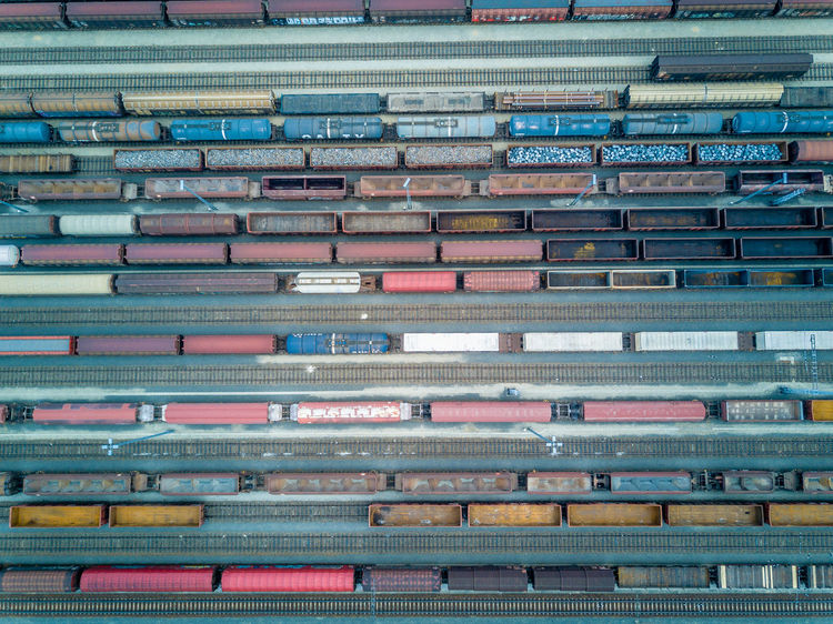 Airteam Birds Eye View Car Day Drone  Dronephotography Drones Droneshot From The Sky Industrial No People Train Train - Vehicle Train Tracks Waggon Wagon  Wagon Wheel