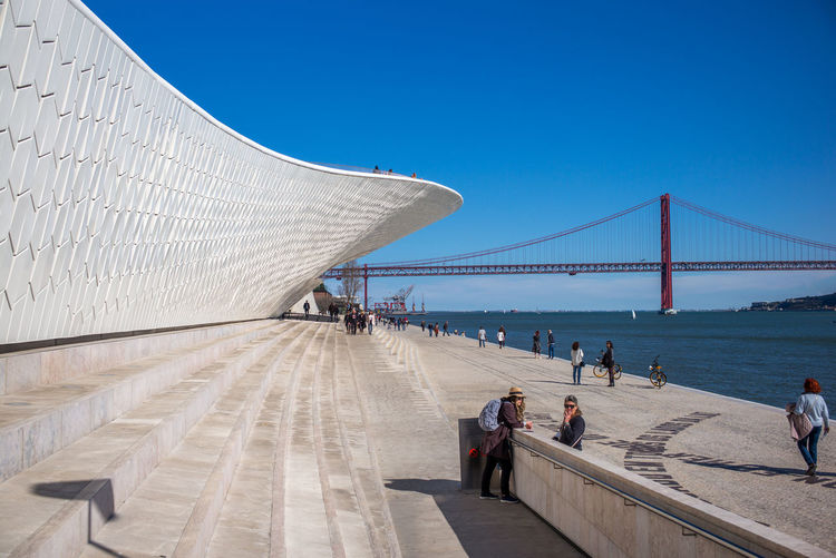 MAAT Museum Belem Architecture Clear Sky MAAT Museum Bridge Building Lisboa Sea Sunny Day Waterfront