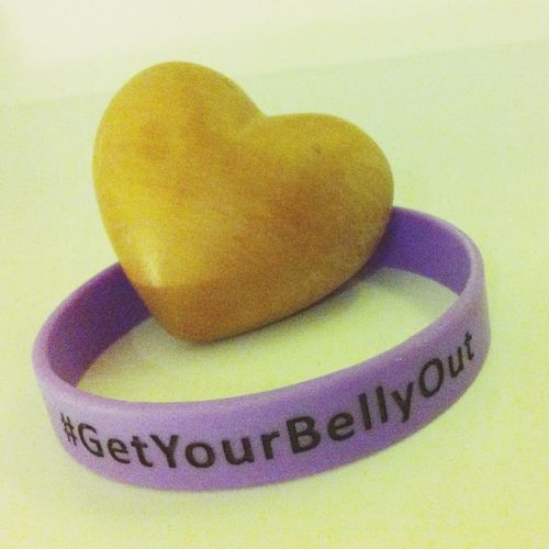Getyourbellyout Wood Heart Band