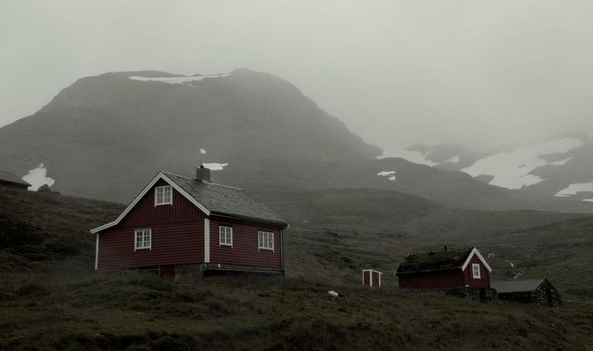 Grey Day Landscape Lonely House Misty Landscape Misty Mountains  Mountain Norway Snow Mountain The Secret Spaces