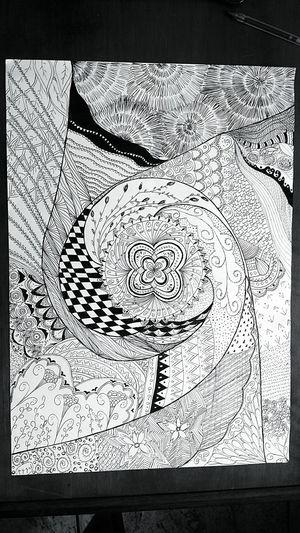 Drawing Zentangles Creative Creativity Drawing Inspiration Getting Inspired Tangles B&w Zentangle