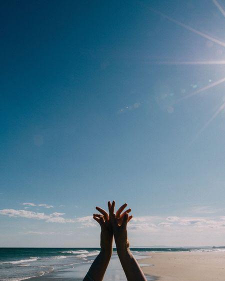 Showcase: December • finger painting • Beach Summer