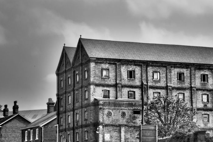 The malt factory in Mistley, Manningtree, Essex, UK Malt Factory Victorian Building Architecture Beer Production Black&white Photography Building Exterior Built Structure City Cloud - Sky Day Maltings Mistley Nature No People Outdoors Sky Water